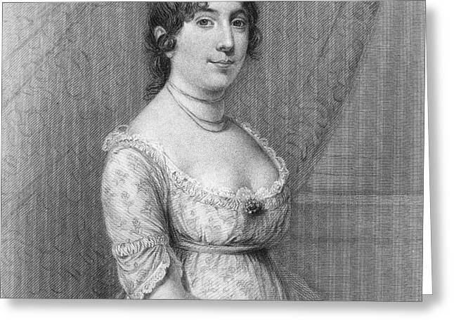 DOLLEY MADISON (1768-1849) Greeting Card by Granger