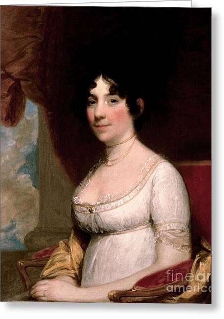 Dolley Madison, First Lady Greeting Card by Science Source