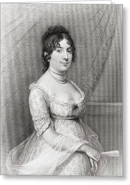 First-lady Drawings Greeting Cards - Dolley Payne Todd Madison 1768 To 1849 Greeting Card by Ken Welsh