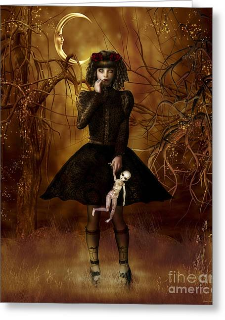 Ringlets Greeting Cards - Dolly Broke Greeting Card by Shanina Conway