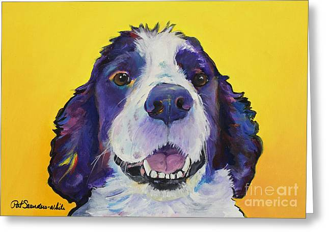 Spaniel Greeting Cards - Dolly Greeting Card by Pat Saunders-White