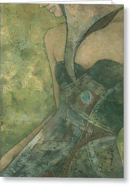 Serene Mixed Media Greeting Cards - Dolores Greeting Card by Steve Mitchell