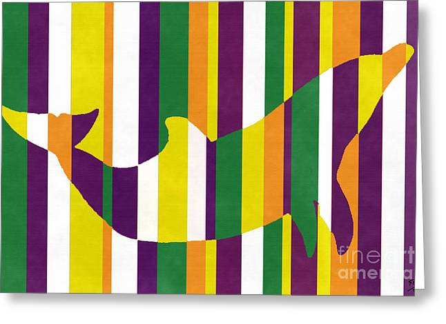 Abstract Expressionist Greeting Cards - Dolphin 1422 Greeting Card by Flo Ryan