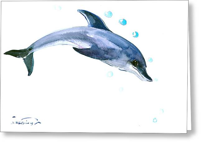Dolphin Greeting Card by Suren Nersisyan