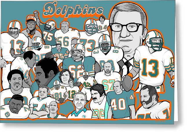 Dan Marino Digital Greeting Cards - Dolphins Ring of Honor Greeting Card by Gary Niles