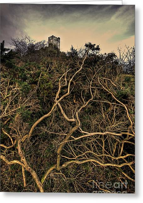 Sleeping Beauty Greeting Cards - Dolwyddelan Castle Greeting Card by Meirion Matthias