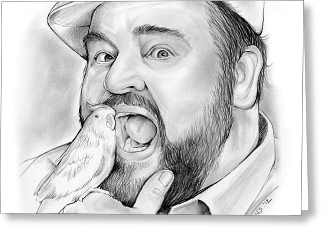 Dom Deluise Greeting Card by Greg Joens