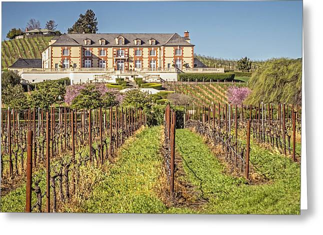 Domaine Carneros - Sonoma - California - Usa Greeting Card by Tony Crehan
