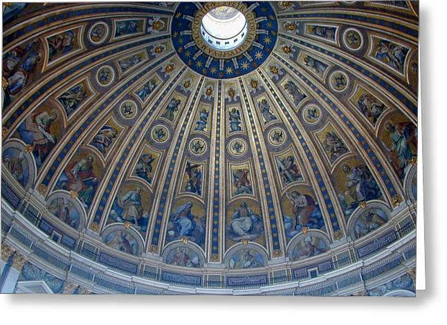Italy Greeting Cards - Dome of Saint Peters Basilica Greeting Card by Joseph R Luciano