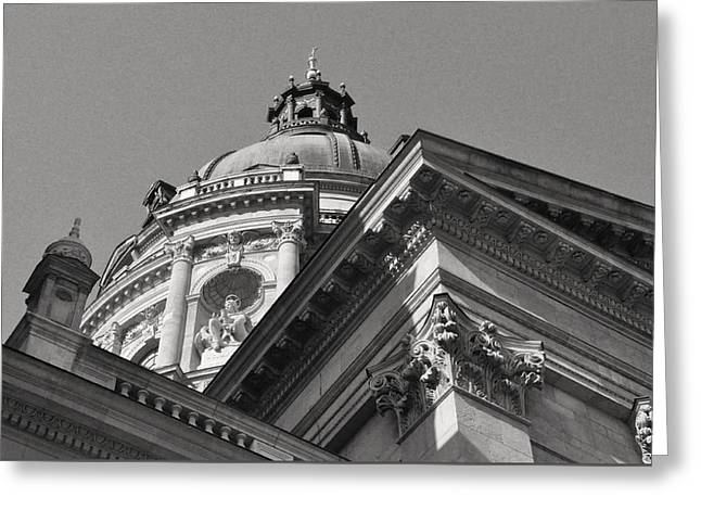 Belle Epoque Reliefs Greeting Cards - Dome of Saint Stephens Basilica Budapest Greeting Card by James Dougherty
