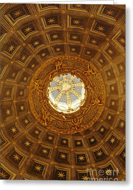 Sienna Italy Greeting Cards - Domed Ceiling Duomo Sienna Greeting Card by Georgia Sheron