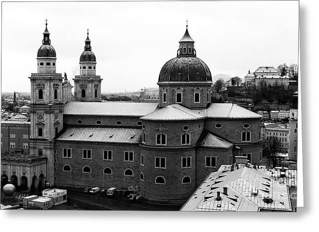 Salzburg Greeting Cards - Domes of Salzburg  Greeting Card by John Rizzuto