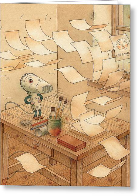 Domestic Wind Hairdryer Greeting Card by Kestutis Kasparavicius