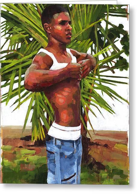 Tropical Beach Greeting Cards - Dominican Beach Greeting Card by Douglas Simonson