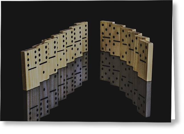 Domino Effect Greeting Card by Guna  Andersone