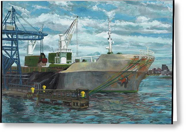 Edward Williams Greeting Cards - Domino Sugar Greeting Card by Edward Williams