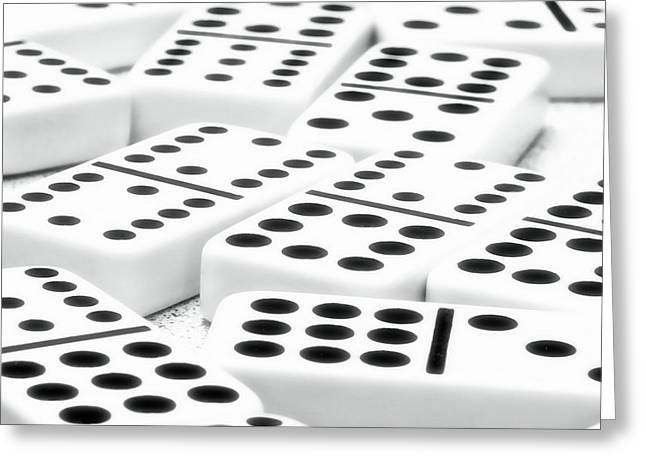 Dot Greeting Cards - Dominoes I Greeting Card by Tom Mc Nemar