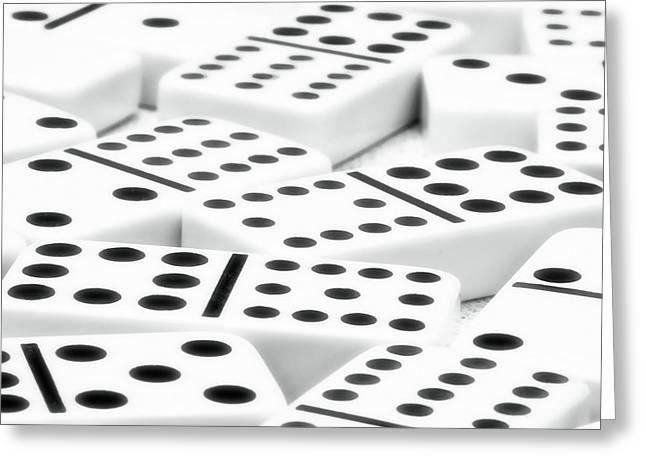 Board Game Photographs Greeting Cards - Dominoes II Greeting Card by Tom Mc Nemar