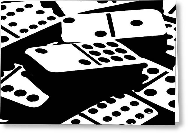 Dominoes IIi Greeting Card by Tom Mc Nemar