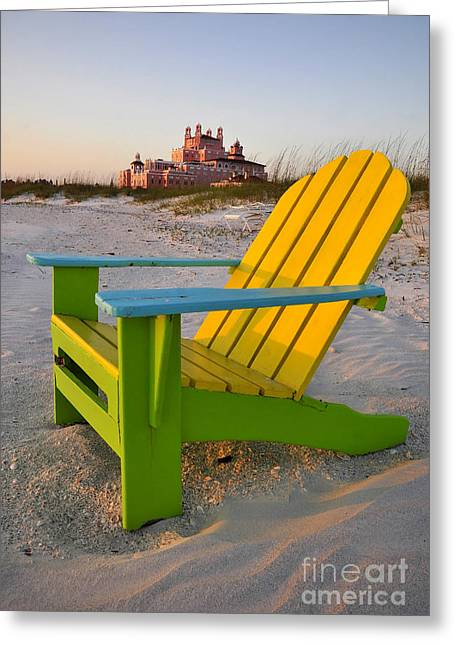 Don Cesar And Beach Chair Greeting Card by David Lee Thompson