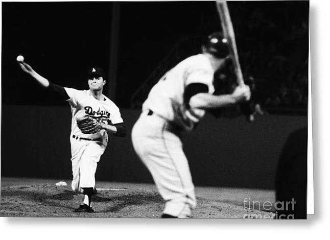 Skill Game Greeting Cards - Don Drysdale (1936-1993) Greeting Card by Granger