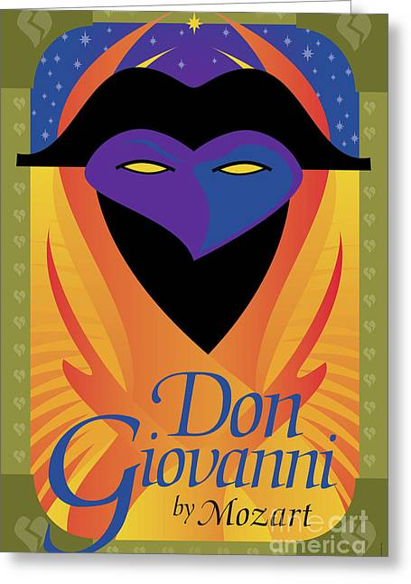 Mozart Greeting Cards - Don Giovanni Greeting Card by Joe Barsin