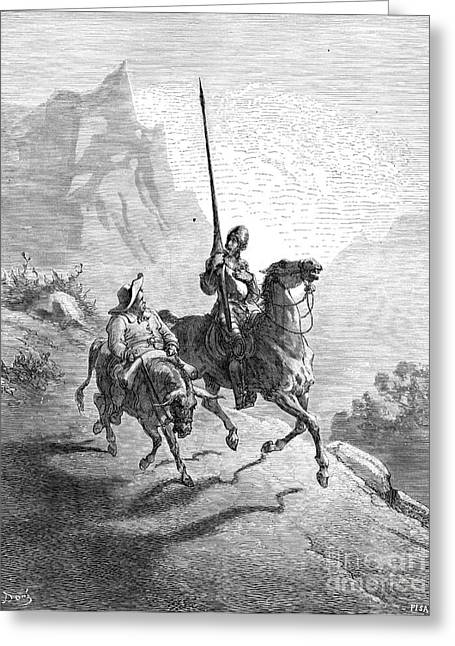 Dore Greeting Cards - Don Quixote And Sancho Greeting Card by Granger