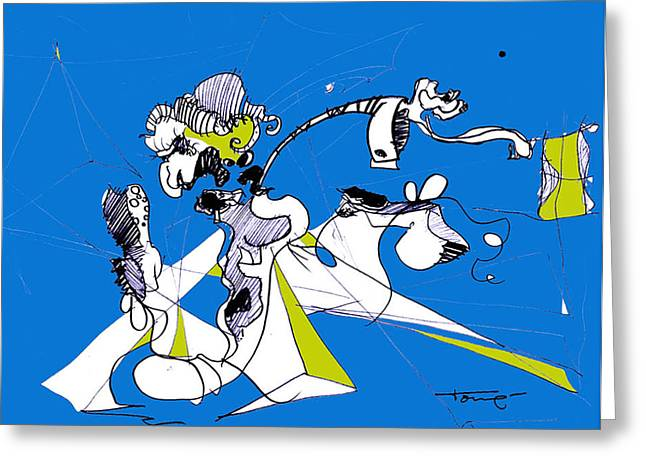 Don Quixote  Greeting Card by Tome Caupers