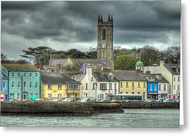 Paint Photograph Greeting Cards - Donaghadee Sea Front Greeting Card by Michael Barbour
