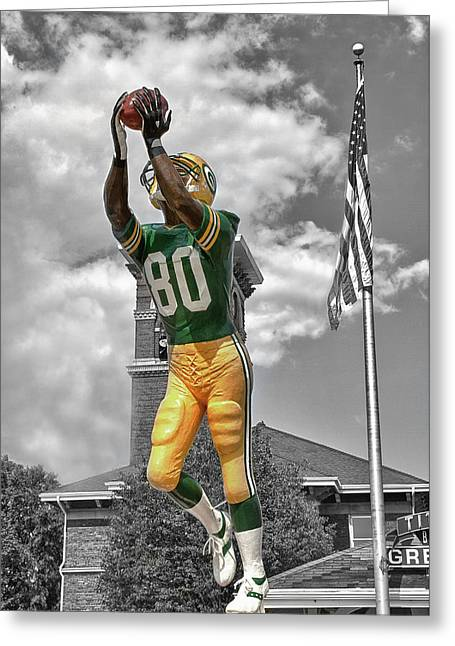 Donald Driver Statue Greeting Card by Joel Witmeyer