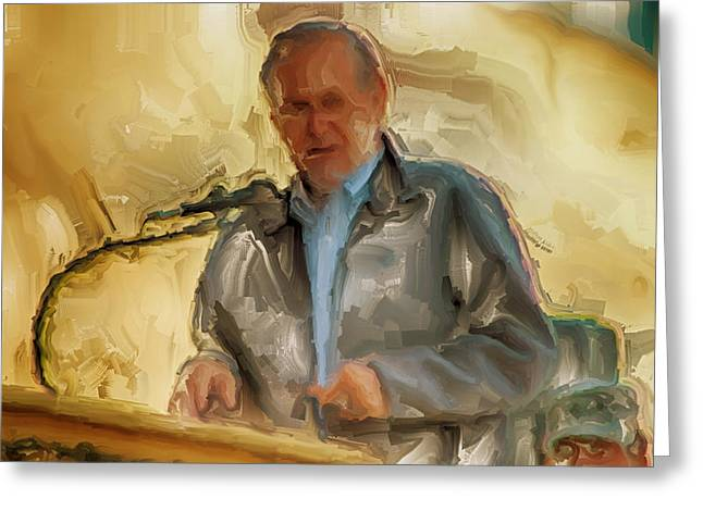 Battlefield Site Paintings Greeting Cards - Donald Rumsfeld Greeting Card by Brian Reaves