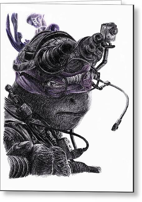 Donatello Greeting Card by Antony Bagley