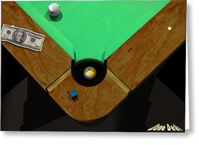 9ball Greeting Cards - DoneDeal Greeting Card by Draw Shots