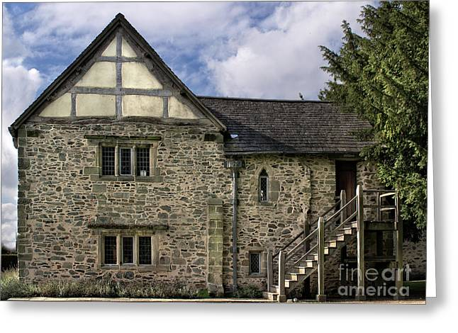 Daubs Greeting Cards - Donington le Heath Manor 2 Greeting Card by Linsey Williams