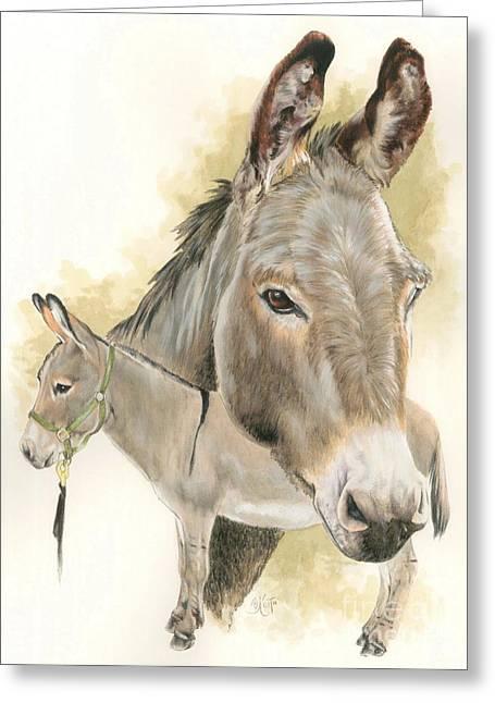 Donkey Mixed Media Greeting Cards - Donkey Greeting Card by Barbara Keith