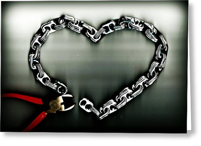 Pop Can Greeting Cards - Dont Chain My Heart Greeting Card by Dolly Mohr