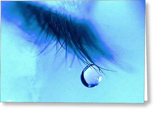 Don't Cry Greeting Card by Tony Rubino