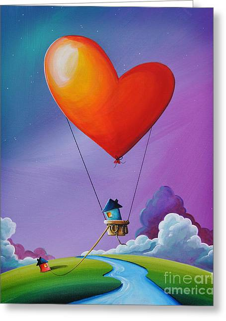 Don't Let Love Slip Away Greeting Card by Cindy Thornton