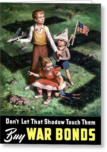 Second World War Digital Art Greeting Cards - Dont Let That Shadow Touch Them Greeting Card by War Is Hell Store