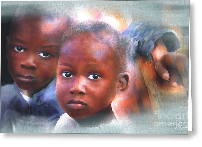 Haiti Digital Art Greeting Cards - Dont Let Us Fade Away Greeting Card by Bob Salo