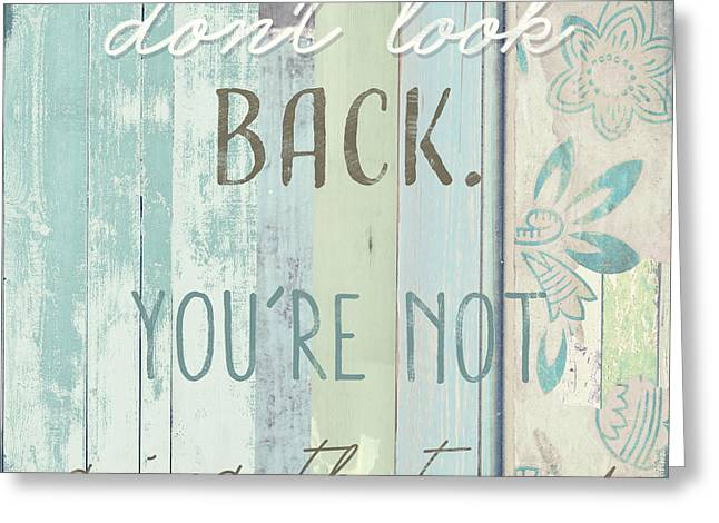 Beach House Paintings Greeting Cards - Dont Look Back  Greeting Card by Mindy Sommers