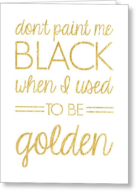 Business Woman Greeting Cards - Dont Paint Me Black Greeting Card by Taylan Soyturk