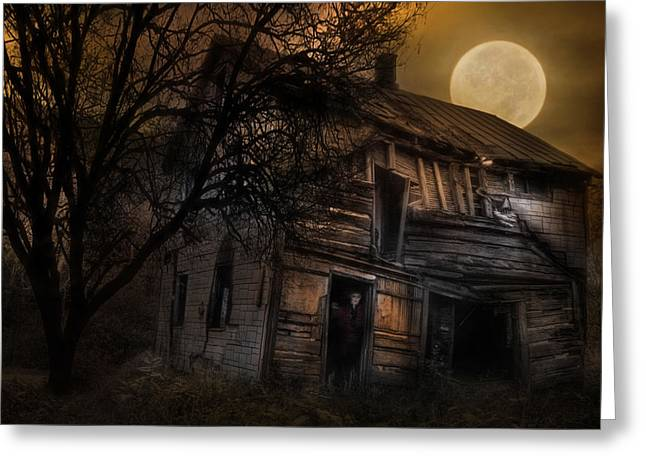 Abandoned House Mixed Media Greeting Cards - Dont Take the Back Roads Greeting Card by Lori Deiter