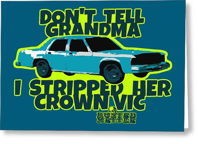 Don't Tell Grandma Greeting Card by George Randolph Miller