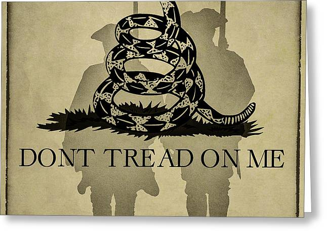 Don't Tread On Me   Rattlesnake Flag Greeting Card by Randy Steele