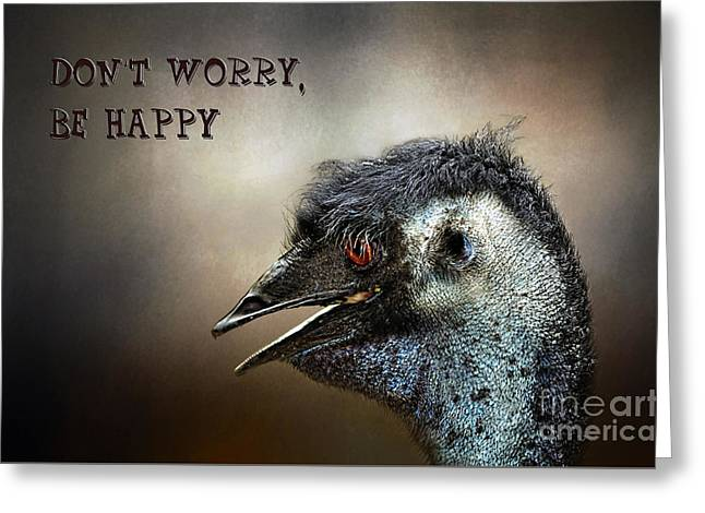 Australian Native Bird Greeting Cards - Dont Worry  Be Happy Greeting Card by Kaye Menner