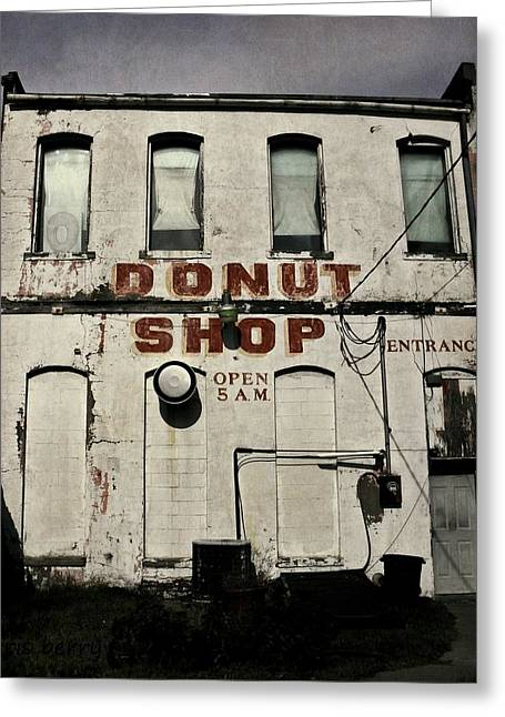 Berry Greeting Cards - Donut Shop Greeting Card by Chris Berry