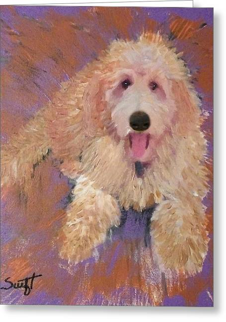 Goldendoodle Greeting Cards - Doodle Greeting Card by Char Swift