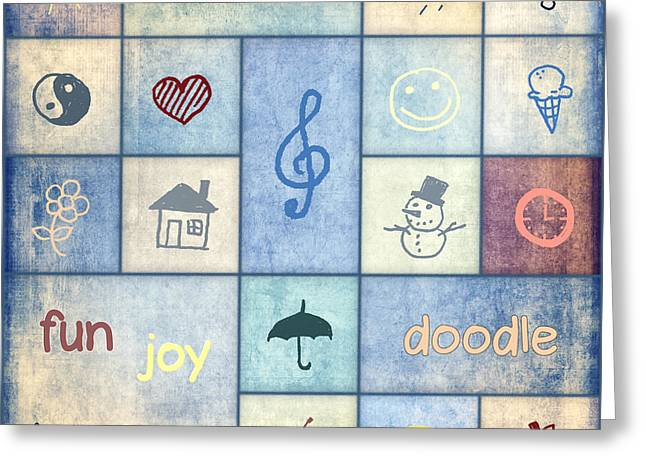 Question Mark Greeting Cards - Doodle Greeting Card by Jutta Maria Pusl