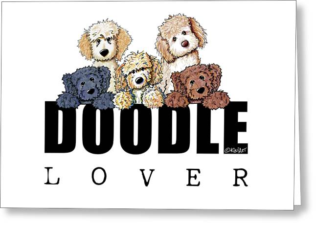 Doodle Lover Greeting Card by Kim Niles